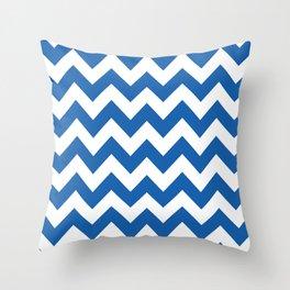 Denim Blue Bold Chevron Throw Pillow