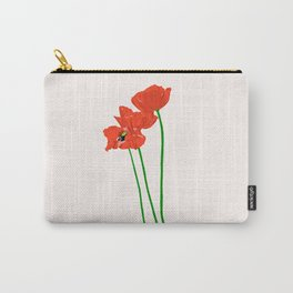 Lovely Poppies Carry-All Pouch