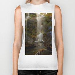 Smooth Waterfall (Color) Biker Tank