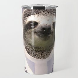 Football Sloth Travel Mug