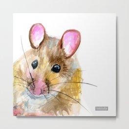 Inky Mouse Metal Print