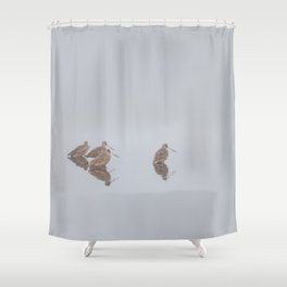 Waddling In Formation Shower Curtain