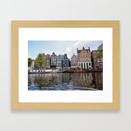 Dancing Houses of Amstedam Framed Art Print