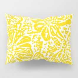 Gen Z Yellow Marigold Lino Cut Pillow Sham