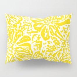 Gen Z Yellow Marigold Lino Cut Pillow Sham