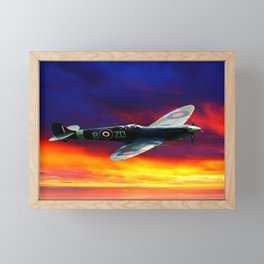 Plane With Great Sky In The Background Framed Mini Art Print