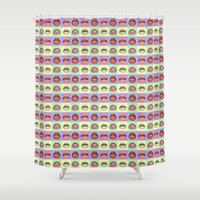 popart Shower Curtains featuring Popart Braces by maayab