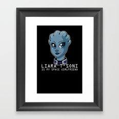 Liara Is My Space Girlfriend Framed Art Print