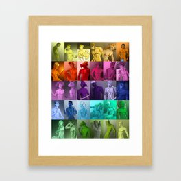 Colorful Fantasy Men Framed Art Print