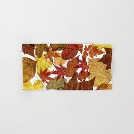 Autumn / Fall copper & gold leaves in English park - Oak, Beech Hand & Bath Towel