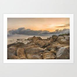 Stones, Ocean and Heaven Art Print