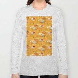 Skateboarders Holiday Pattern Long Sleeve T-shirt