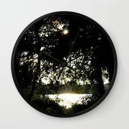 Sunset Peak of the Sandy River Wall Clock