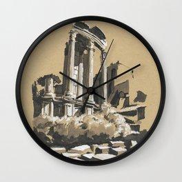 Roman Forum Ruins Wall Clock