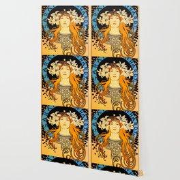 """Alphonse Mucha """"Sarah Bernhardt"""" Wallpaper"""