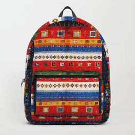N35 - Bohemain Colored Moroccan Traditional Andalusian Artwork. Backpack