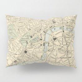Vintage Map of London England (1901) Pillow Sham