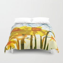 intence yellow Duvet Cover
