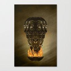 Burning senses on paranoia Canvas Print