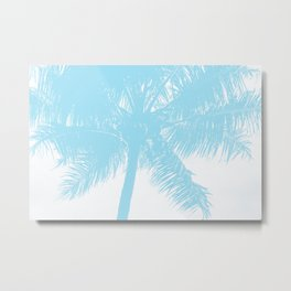Palm Tree Turquoise Teal Summer Beach Metal Print