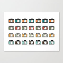 Colourful Camera Icons Canvas Print