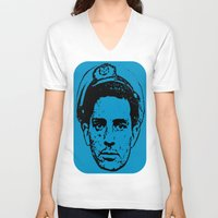 kerouac V-neck T-shirts featuring Outlaws of Literature (Jack Kerouac) by Silvio Ledbetter