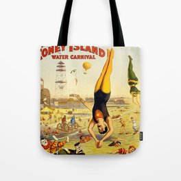 The Great Coney Island Water Carnival – Barnum & Bailey Circus Poster Tote Bag
