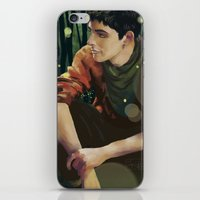 merlin iPhone & iPod Skins featuring Merlin by PrintsofErebor