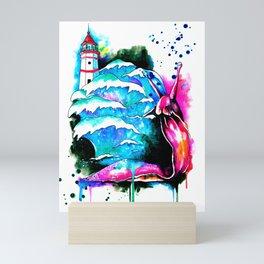 lighthouse keeper Mini Art Print