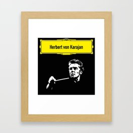 Herbert von Karajan Framed Art Print