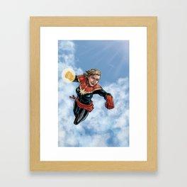 Skyward with the Captain Framed Art Print