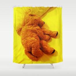 Love is... Teddy dog Shower Curtain