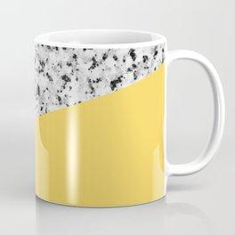 Granite and Primrose Yellow Color Coffee Mug