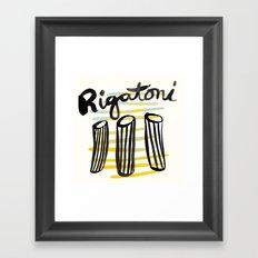 Rigatoni | 100 Days of Cookbook Spots Framed Art Print