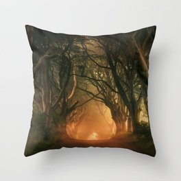 When the day begins... Throw Pillow
