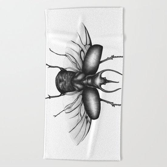 Beetle Wings Beach Towel