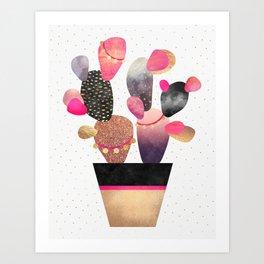 Happy Cactus 2 Art Print