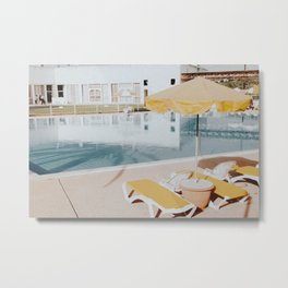 vintage summer poolside Metal Print