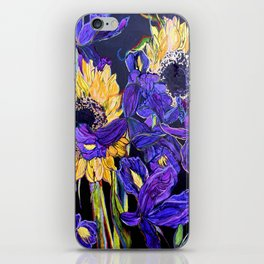 Sunflower & Iris iPhone Skin