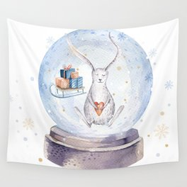 Christmas bunny #3 Wall Tapestry