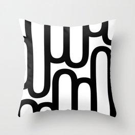 U Pattern Throw Pillow