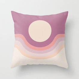 Lilac Rainbow Canyon Throw Pillow