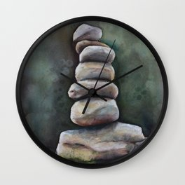 Cairns In A Clearing Wall Clock