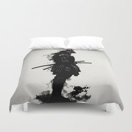 Armored Samurai Duvet Cover
