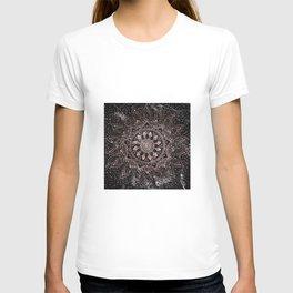 Elegant rose gold mandala dots and marble artwork T-shirt