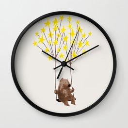 Stars Swing Wall Clock