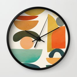 Modern Abstract Art 72 Wall Clock