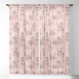 Yorkshire Terrier Pattern Sheer Curtain