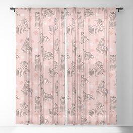 Yorkshire Terrier Pattern Sheer Curtain