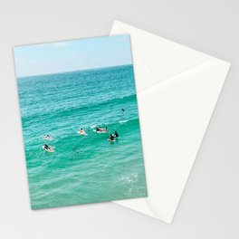 Surfers at Pacific Beach, San Diego Ca Stationery Cards